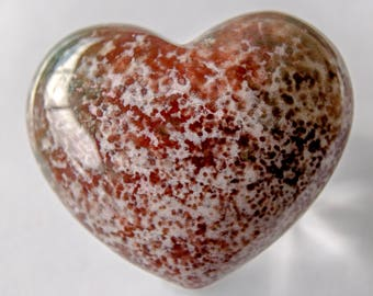 Carved Jasper puffy heart (large)