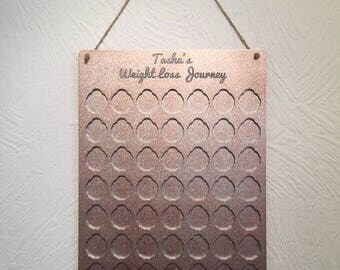 Weight loss journey board personalised plaque pounds for pounds