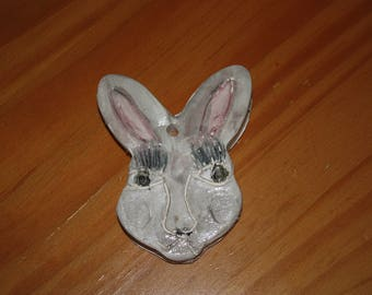 Folk Art Rabbit Ornament