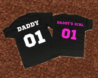 Daddy daddy's girl father daughter matching shirts, Daddy daddy's girl father daughter matching T-shirts