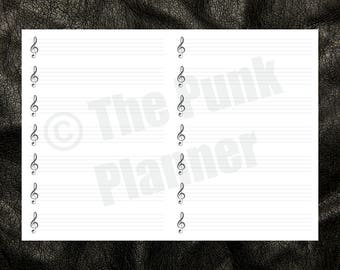 G009 Music Score Notebook Insert