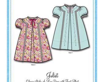 Bonnie Blue Designs 152 - Juliet / Sizes 12, 18, 24 months & 3, 4, 5, and 6 years