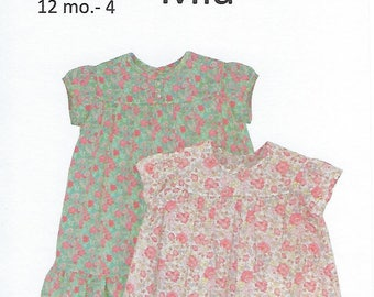 Children's Corner Sewing Pattern #279 / MIA / Sizes 12 mos - 4