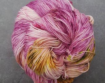 Rose Lichen ~ Bardot ~ Merino Nylon High Twist Sock Yarn