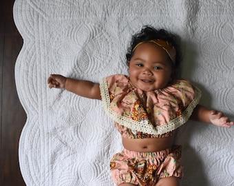 Baby Girls Clothing Set- Bohemian dream sunsuit