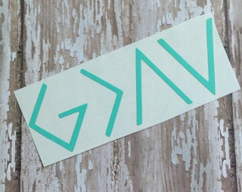 God Is Greater Than The Highs and The Lows; Christian Decal; Faith Decal