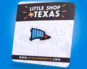 Texas Pennant Enamel Pin