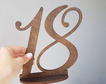 "Wood Table Numbers | Laser Cut Table numbers | Gold Table Numbers | Silver Table Numbers | 8"" Stemless"