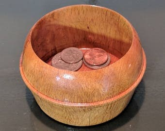 Wood Catchall Bowl/ Jewelry Dish