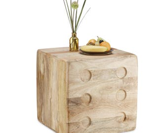 Designer Cube wood coffee table bedside table Stool table