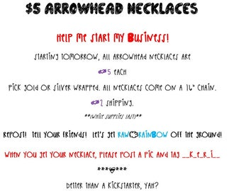 Arrowhead necklace bonanza!