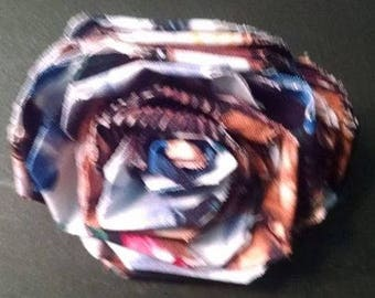 Fabric Rose Barrette Doggies Allover