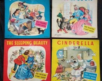 Series A: 4 x 50s Talking Story Books Colouring Book/LP (Die Klingenden Bilderbucher)