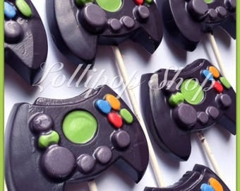 12 XBox controller solid chocolate lollipops (Birthday, Video game, gamer birthday party)