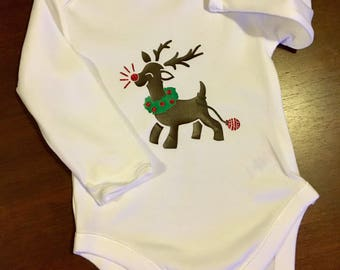 Christmas baby grow, gender neutral bodysuit, new baby Christmas outfit, first Christmas, bodysuit, Christmas baby gift, baby shower pres