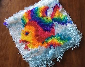 Rainbow Fish Latch Hook Rug