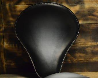 Handmade Bobber Seat + Pillion Seat Vintage Black V3
