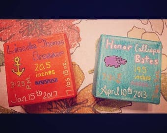 Birth Announcement / Name Blocks