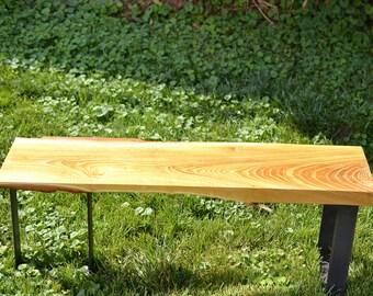 Live Edge Honey Locust Accent Table