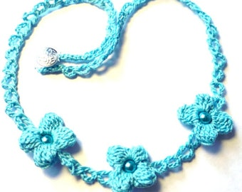 Beaded Necklace - crocheted