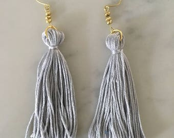 Silver Gray Long Fringe