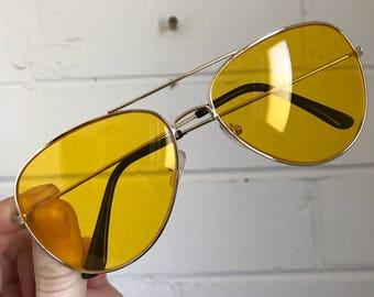 Yellow aviators