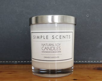 Soy Candle - Orange Chocolate - Simple Scents