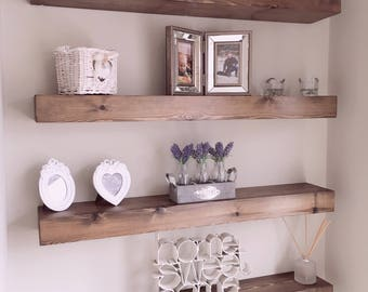Chunky Rustic floating shelves with fitting kit