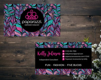 PERSONALIZED Paparazzi Business Card, Custom Paparazzi Accessories Business Card, Fast Free Personalization, Printable Business Card PZ13