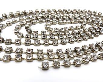 Rhinestone Trim. Crystal Trim. Rhinestone Chain.