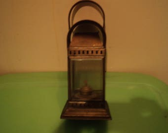 Antique nautical bulkhead lantern