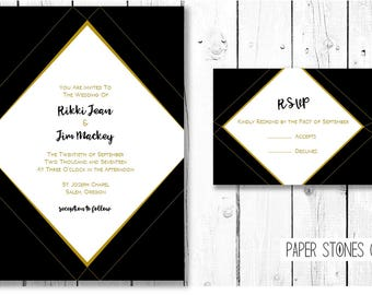 DiamondStone Invitation, Announcement, Special Occassion, Digital, Printable