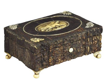 great miniature antler casket 1860