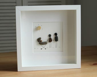 New born baby Pebble Art - New arrival - Baby Gifts - Baby shower - Gifts for mum - Family Gifts - Celebration - Home Decor