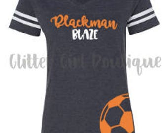 Womens Spirit Jersey Tee | Soccer Mom Shirt | Shirts for Soccer Fans | Soccer Shirt | Sports Fan Shirt | Sport Mom Shirt | Soccer Team Shirt