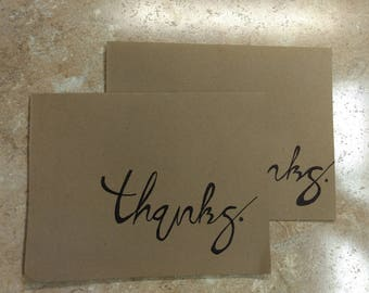 Thanks Cards Loopy Lettering
