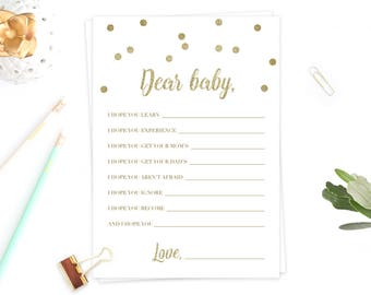 Baby Wishes for Baby Printable Baby Games Printable Baby Wish Cards Gender Neutral Baby Shower Advice Cards Baby Shower Instant Download GCO