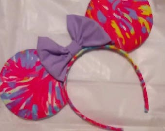 purple bow lilly ears