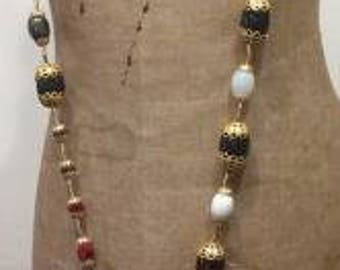 Necklace made with vintage and recycled beads....made with imagination....love and care