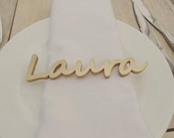 Name places wedding table seating plan