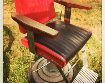 Retro 1950's Belmont Barber chair