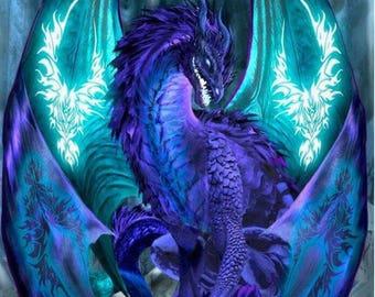 Ice Dragon Cross Stitch Pattern