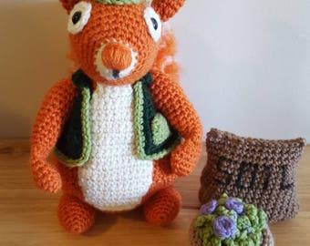 Handmade squirrel doll toy
