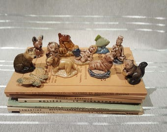 Many Available See Listing Vintage Wade Whimsies Rose Tea Figurines Porcelain