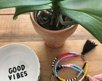 Double Strand Tassel Seed Bead Bracelets
