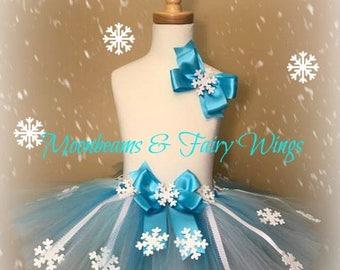 Elsa Tutu,Snow Tutu,Frozen Tutu,Winter Tutu,Snow Queen Tutu,Ice Princess Tutu,Girls Snow Tutu,Girls Snowflake Tutu,Winter Themed Tutu,Queen