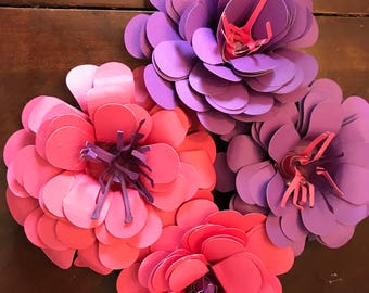 Paper Flowers - Set of 4