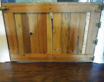 Doggie gate, rustic dog gate, wood dog gate, hinged dog gate.