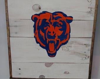 Chicago bears sign, Custom sign, bears handmade sign