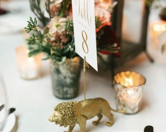 Wedding Table Number Holders - Wedding Place Card Holders -  Pick Your Party Animal - Wedding favors - party favors - Tiny Taxidermy